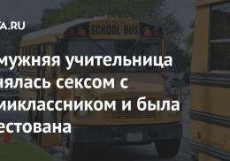 Замужняя учительница занялась сексом с семиклассником и была арестована