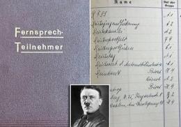 Телефонная книга Гитлера с контактами нацистов ушла на аукционе по двойной цене