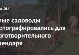 Голые садоводы сфотографировались для благотворительного календаря