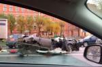 Серьезная авария на Варшавском шоссе 16-10-2014, столкнулись 7 автомобилей