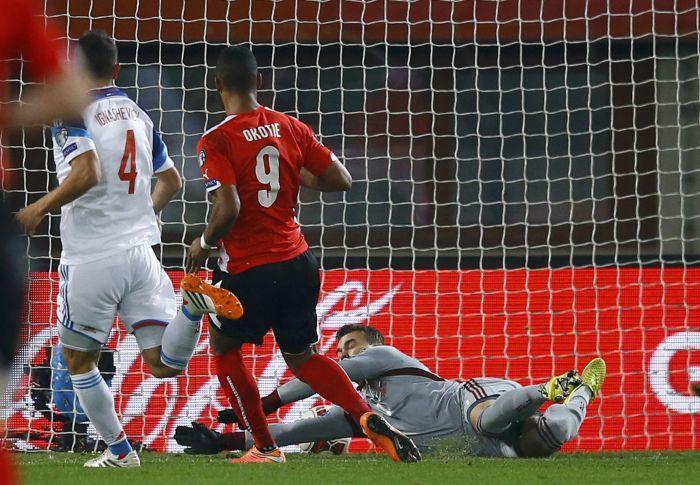 победный гол в матче против австрии