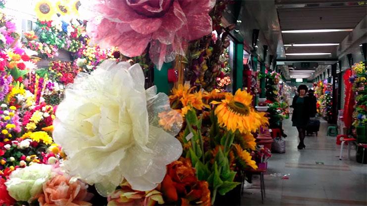 продажа цветов в китае