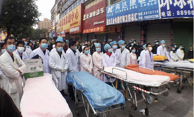 пожар в китае погибли 17 человек