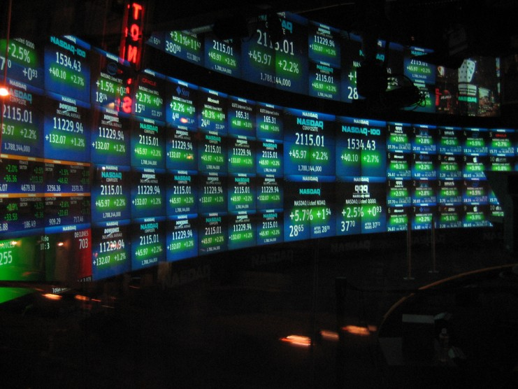 NASDAQ info screen