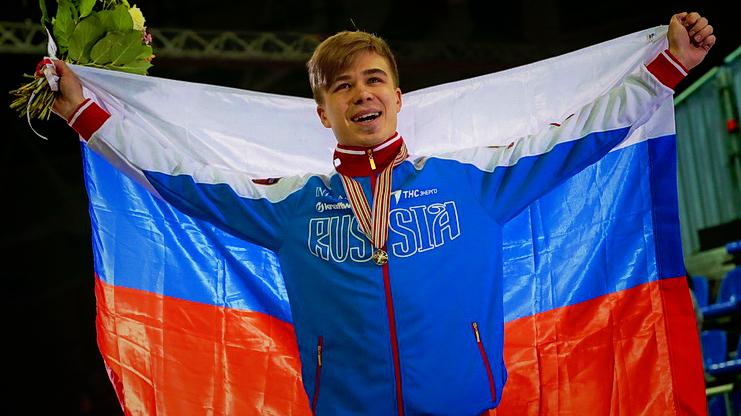 Первое золото сборной России на ЧМ по шорт-треку 2015 у Семена Элистратова