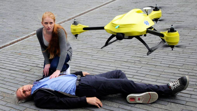 дрон прилетел спасти больного