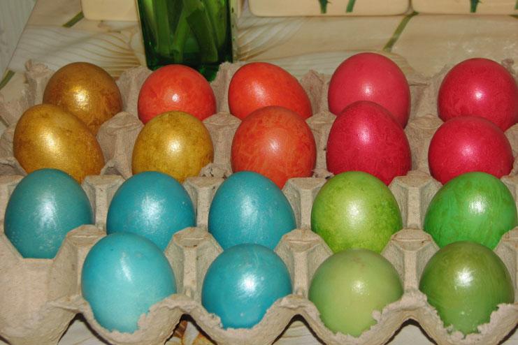 яйца на пасху покрасить фото