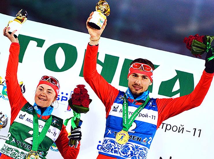 екатерина юрлова - антон шипулин биатлон тюмень гонка чемпионов 2015