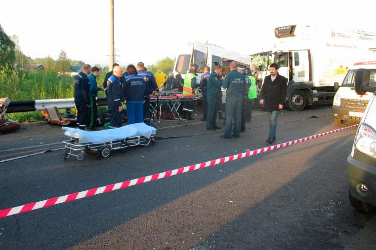 авария автобус с детьми и грузовик нижний новгород