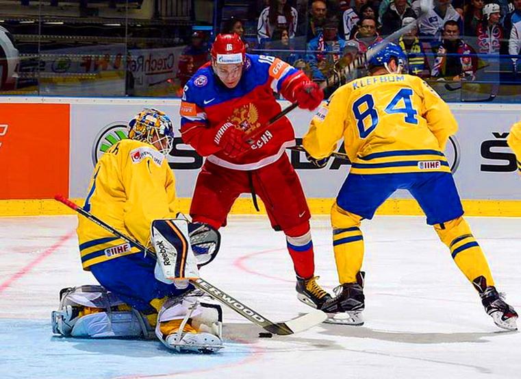 матч швеция россия чм по хоккею 2015