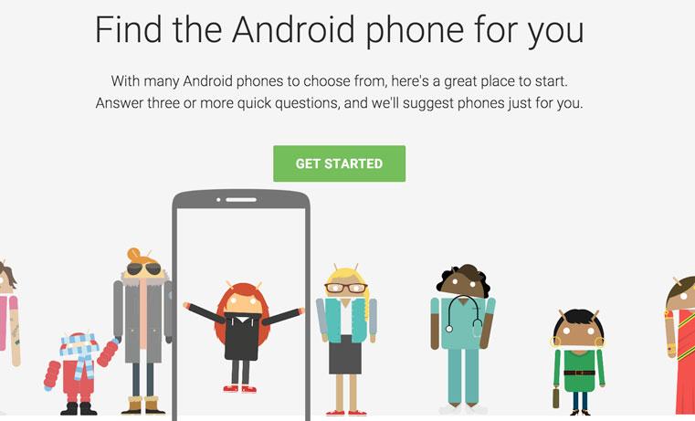 новый сервис от гугл по выбору смартфона