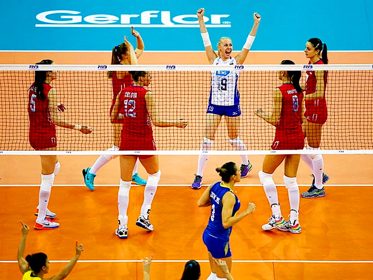 бразилия – россия финал шести мировое гран-при по волейболу 2015