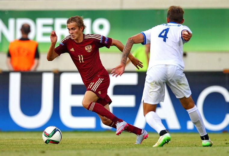 матч россия греция футбол че до 19 лет 2015