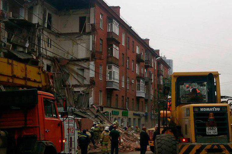 упал дом в перми куйбышева 103