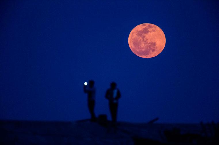 фотография кровавая луна