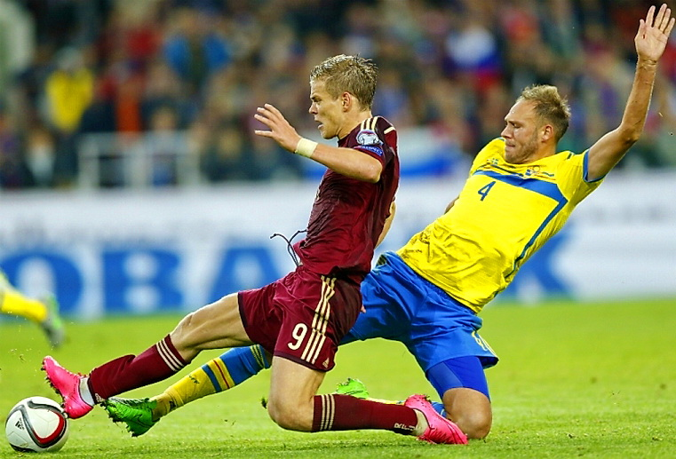 матч россия - швеция футбол евро 2016
