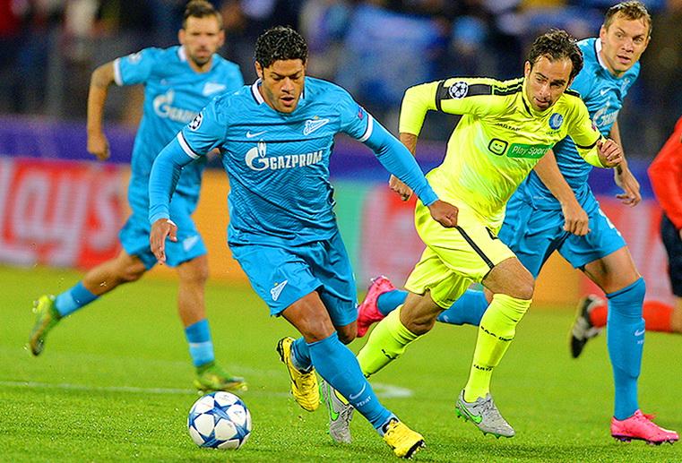 матч зенит - гент футбол лига чемпионов