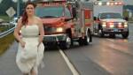 Медработник оказала первую помощь, не снимая свадебного платья