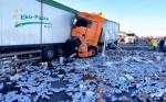 Движение по автомагистрали возле Ганновера было остановлено из-за тысяч рассыпавшихся банок пива