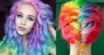 Радужный цвет волос – новый тренд текущего сезона