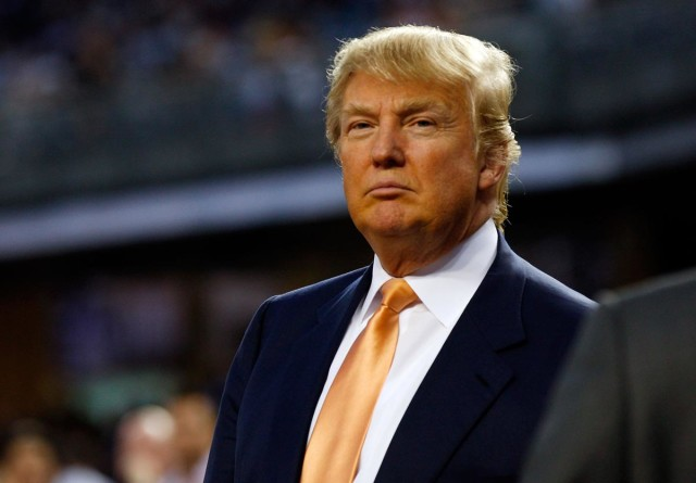 NEW YORK - SEPTEMBER 23:  Donald Trump attends the game between the New York Yankees and the Tampa Bay Rays on September 23, 2010 at Yankee Stadium in the Bronx borough of New York City.  (Photo by Mike Stobe/Getty Images) *** Local Caption *** Donald Trump