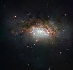 Компьютерное моделирование и телескоп Хаббла помогли увидеть столкновение галактик