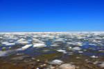 Озеро Себейго порадовало наблюдателей необычным снеговым покровом