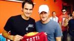 Тотти и Федерер проведут выставочный матч на римских кортах