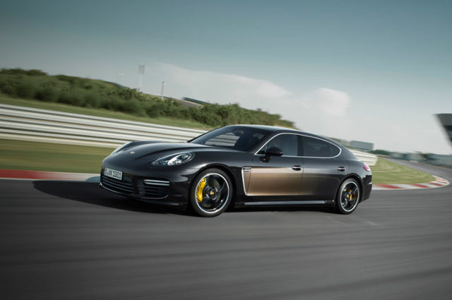 2015-Porsche-Panamera-Exclusive-Series-front-three-quarter-in-motion