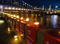 В преддверии Дня жалобы и скорби в Москве зажгли свечи