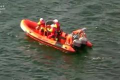 Спасение унесенной в море собаки сняли на видео