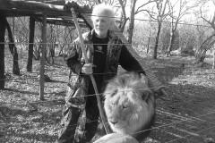 Живший в неволе лев растерзал хозяина