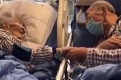Предсмертное прощание больного пенсионера с умирающей женой попало на видео