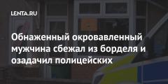 Обнаженный окровавленный мужчина сбежал из борделя и озадачил полицейских
