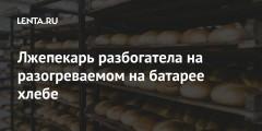Лжепекарь разбогатела на разогреваемом на батарее хлебе