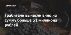 Грабители вынесли вино на сумму больше 31 миллиона рублей