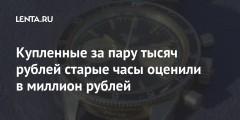 Купленные за пару тысяч рублей старые часы оценили в миллион рублей