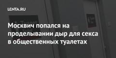 Москвич попался на проделывании дыр для секса в общественных туалетах