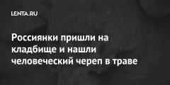 Россиянки пришли на кладбище и нашли человеческий череп в траве