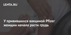 У привившихся вакциной Pfizer женщин начала расти грудь